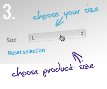 3. Choose product size