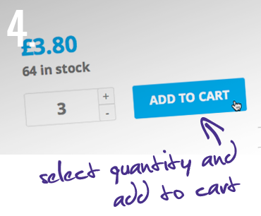 4. Select quantity and add to cart