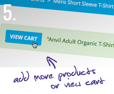 5. Add more products, or view cart