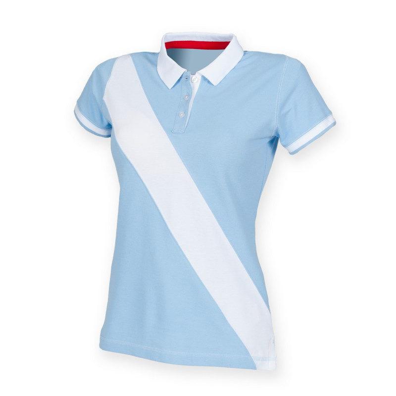 Women's diagonal stripe house polo