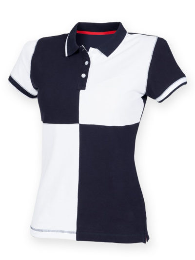 Women's quartered house polo