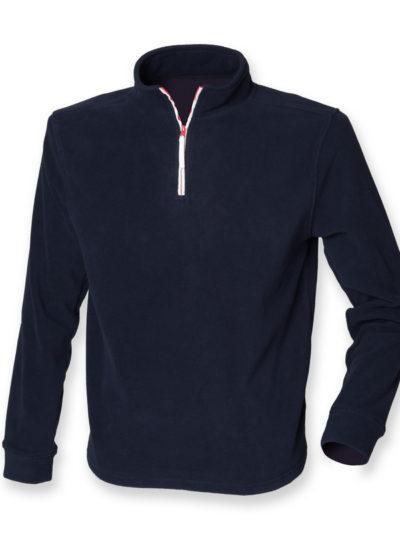 _ zip long sleeve fleece piped