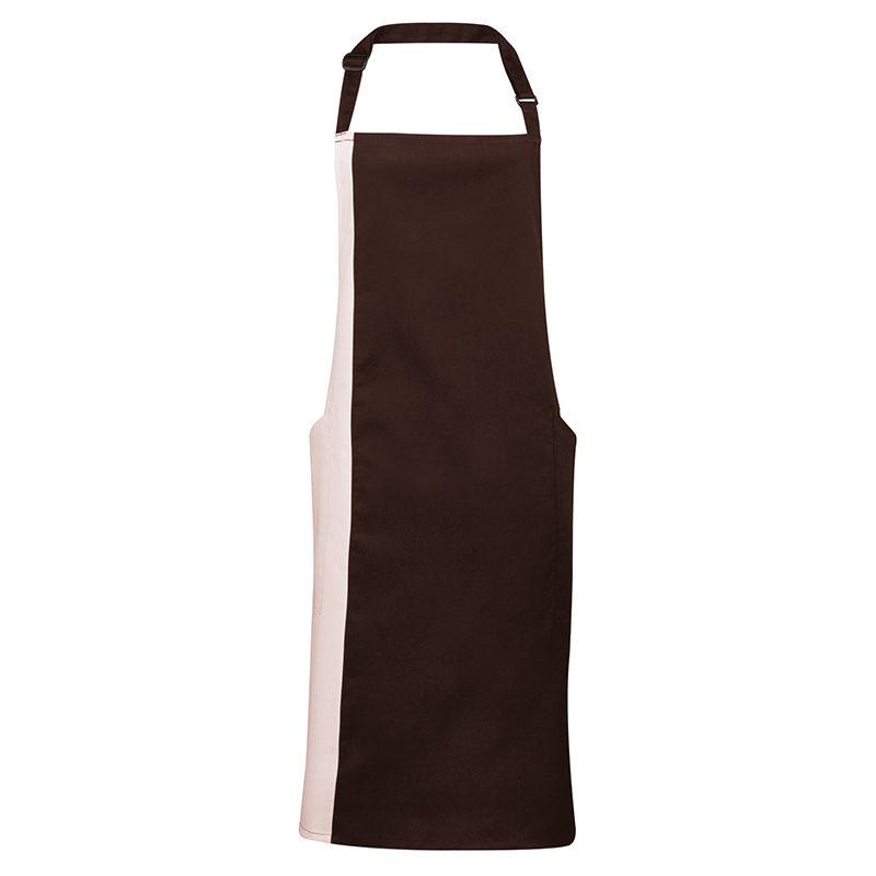 Contrast bib apron