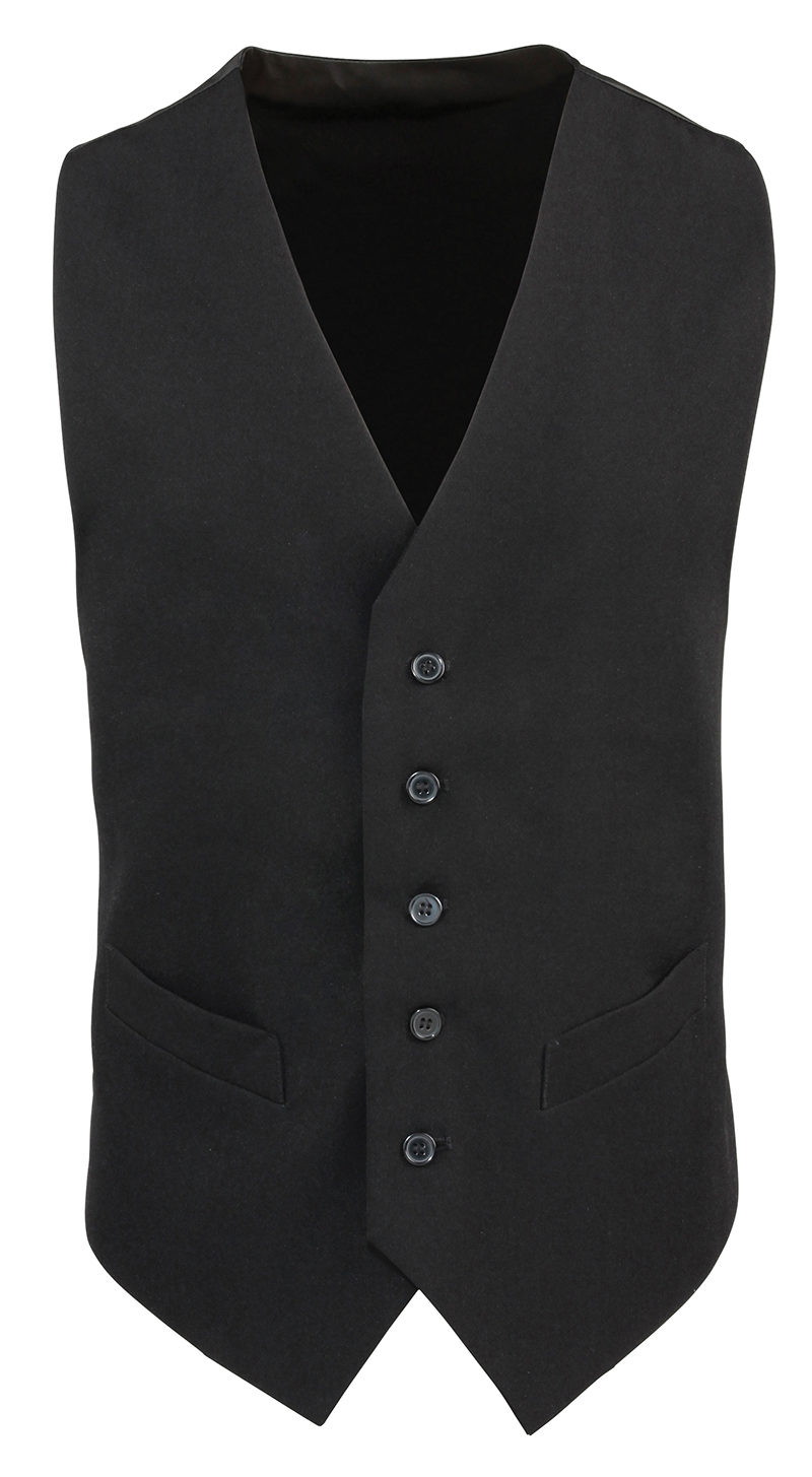 Lined polyester waistcoat