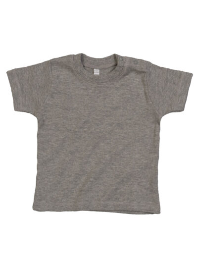 Babybugz Baby T Organic Heather Grey Melange