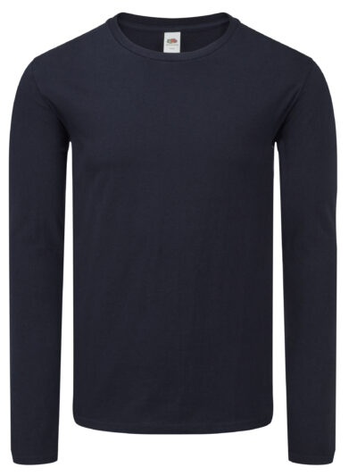 Fruit Of The Loom Iconic 150 Classic Long Sleeve T Deep Navy