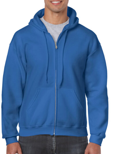 Gildan Heavy Blend™ Adult Full Zip Hooded Sweatshirt Royal