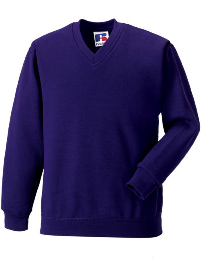 Jerzees Schoolgear Children's V-Neck Sweatshirt Purple