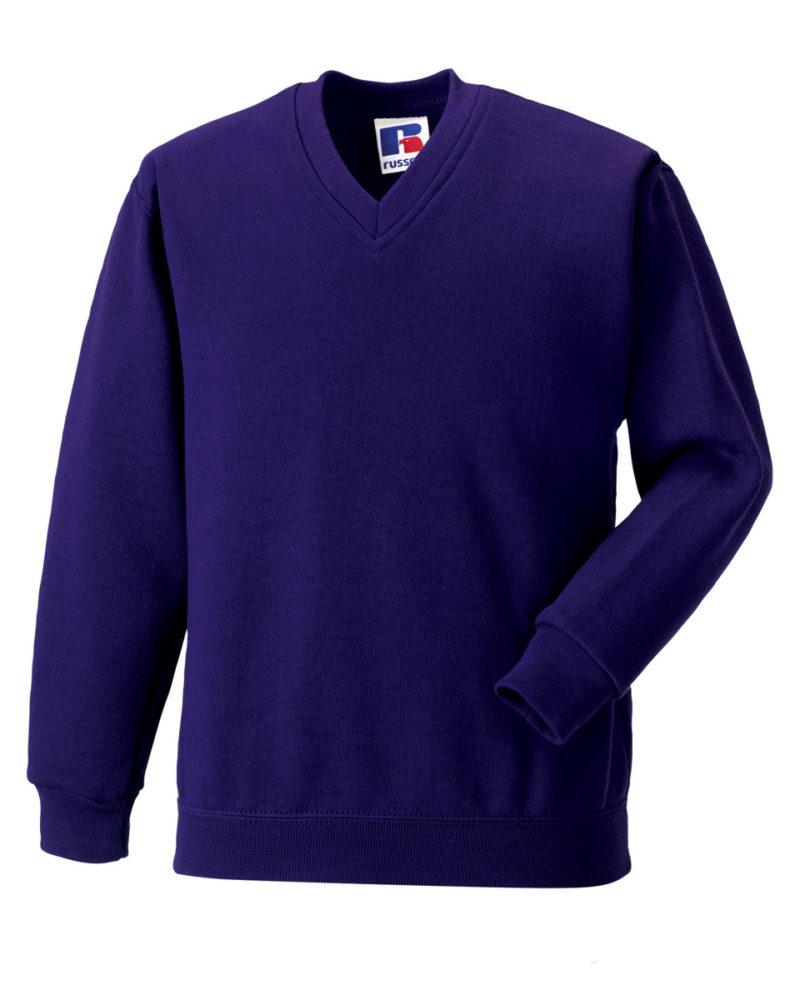 Jerzees Schoolgear Children's V-Neck Sweatshirt Purple