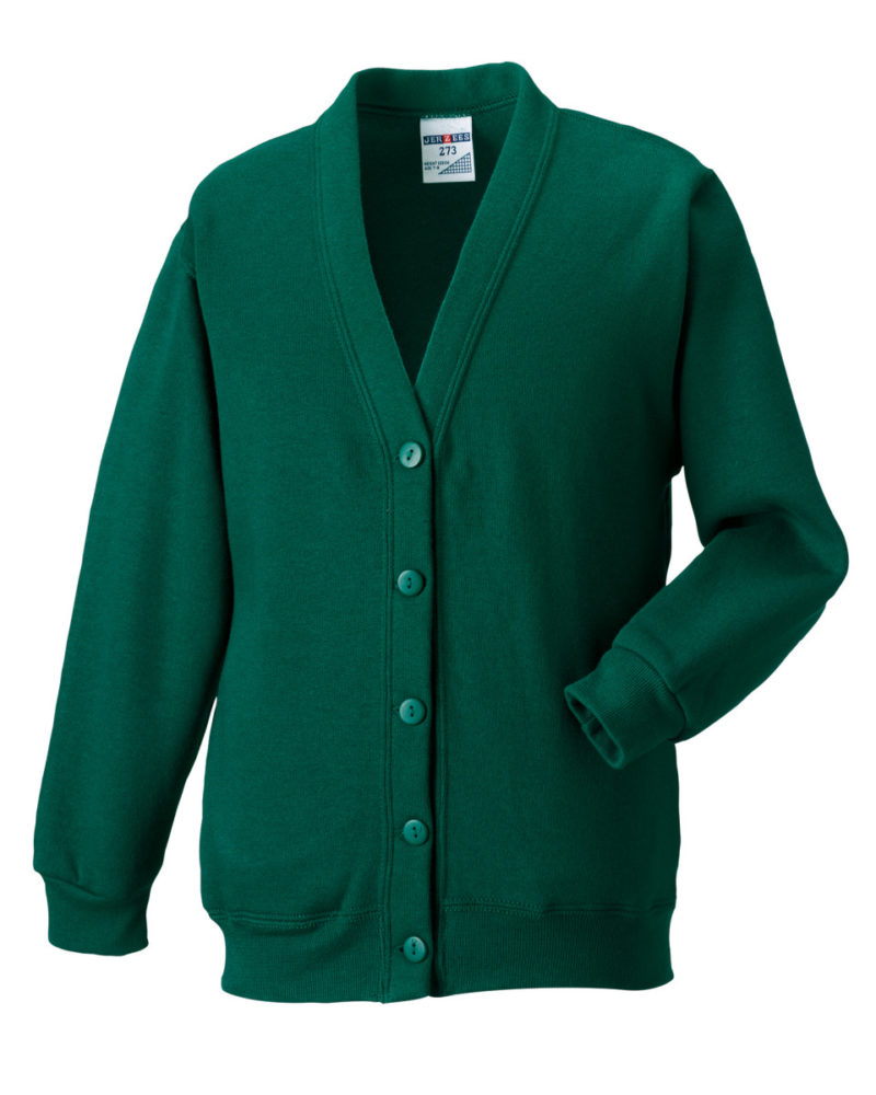 Russell Adult Sweatshirt Cardigan Bottle Green