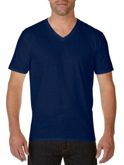 Gildan Premium Cotton® Adult V-Neck T-Shirt Navy Blue