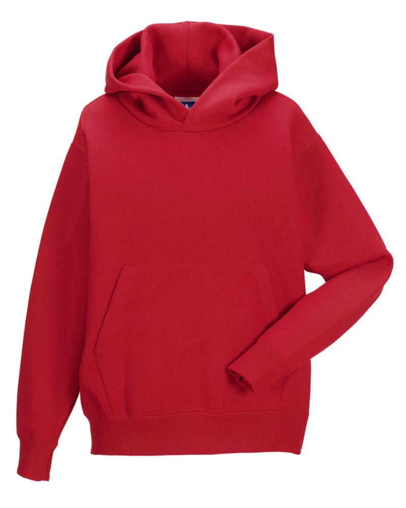 Jerzees Schoolgear Children's Hooded Sweatshirt Classic Red
