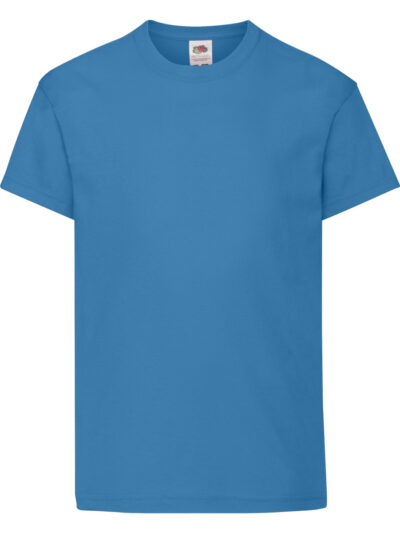 Fruit Of The Loom Kid's Original T Azure Blue