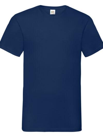 Fruit Of The Loom Men's Valueweight V-Neck T-Shirt Navy Blue