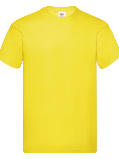 Fruit Of The Loom Men's Original T-Shirt Yellow