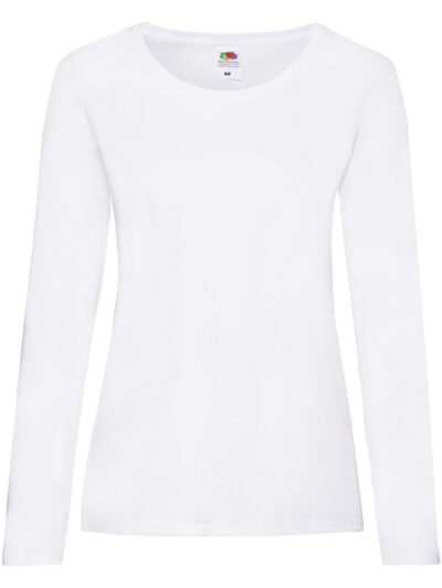 Fruit Of The Loom Ladies' Valueweight Long Sleeve T-Shirt (61404)