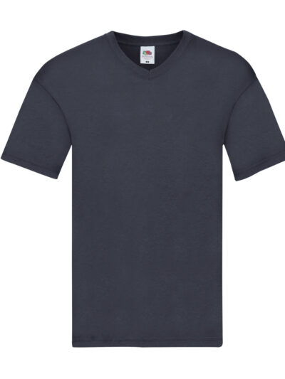 Fruit Of The Loom Original V-Neck T-Shirt Deep Navy