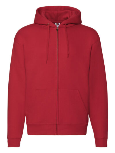 Fruit Of The Loom Men's Premium Hooded Sweat Jacket Red