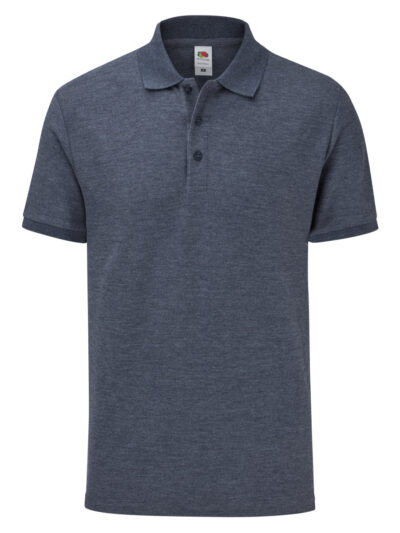 Fruit Of The Loom Men's 65/35 Tailored Fit Polo Vintage Heather Navy