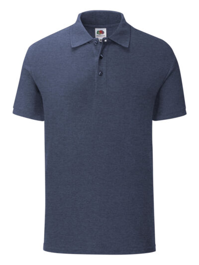Fruit Of The Loom Men's Iconic Polo Vintage Heather Navy