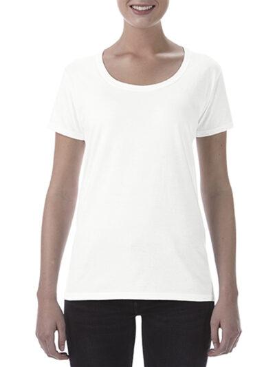 Gildan Softstyle® Ladies' Deep Scoop T-Shirt White