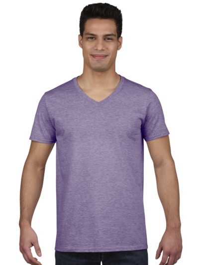 Gildan Mens Soft Style V-Neck T-Shirt