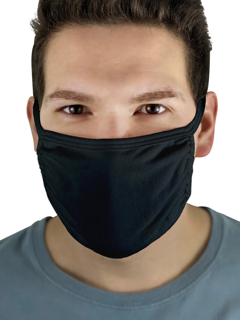 Fruit Of The Loom Adult Cotton Face Mask (5 Pack) Black