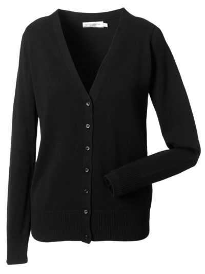 Russell Collection Ladies'  V-Neck Knitted Cardigan (715F)