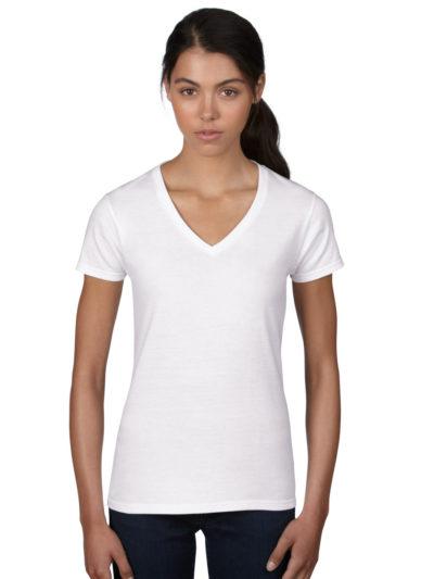 Anvil Ladies V Neck Fashion T-Shirt