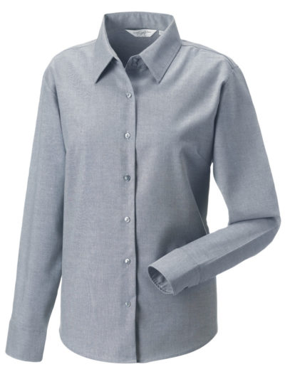 Russell Collection Ladies' Long Sleeve Easy Care Oxford Shirt (932F)