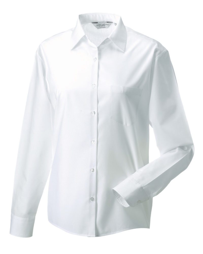 Ladies' Long Sleeve Polycotton Easy Care Poplin Shirt