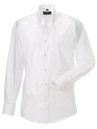 Russell Collection Men's Long Sleeve Ultimate Non-Iron Shirt White