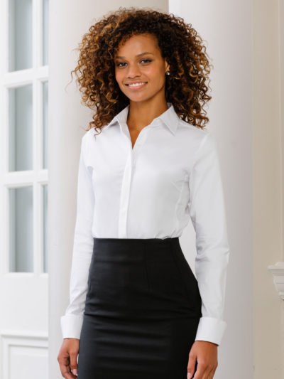 Russell Collection Ladies Stretch Shirt
