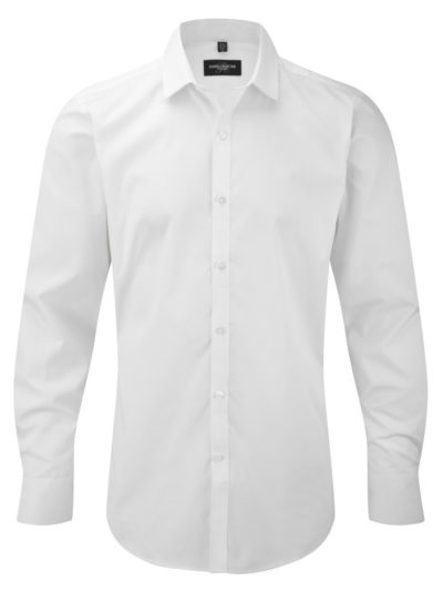 Russell Collection Mens Stretch Shirt