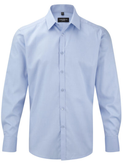 Russell Collection Mens H'Bone Shirt