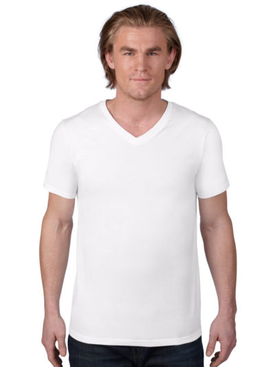 Anvil Adult V Neck Fashion T-Shirt
