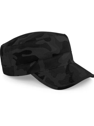 Beechfield Camo Army Cap Midnight Camo