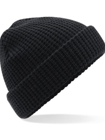 Beechfield Classic Waffle Knit Beanie Black