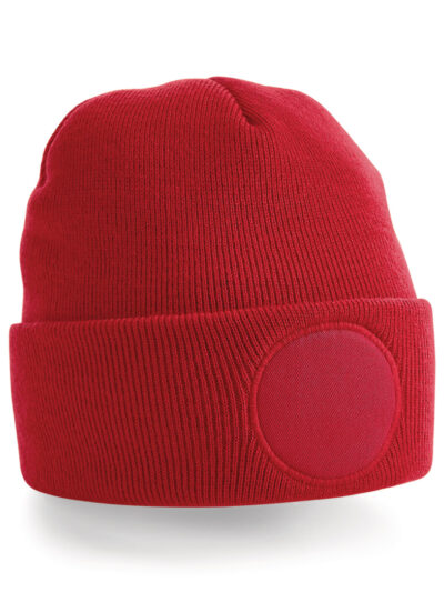 Beechfield Circular Patch Beanie Classic Red