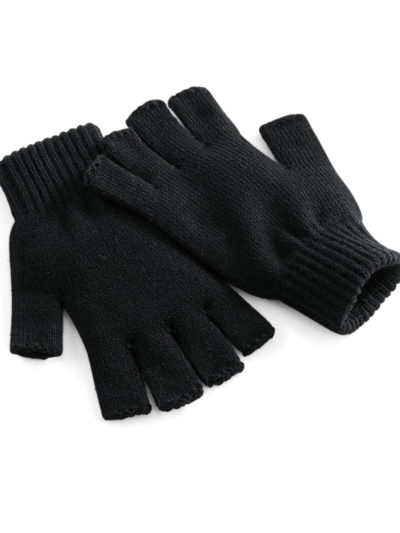 Beechfield Fingerless Gloves Black