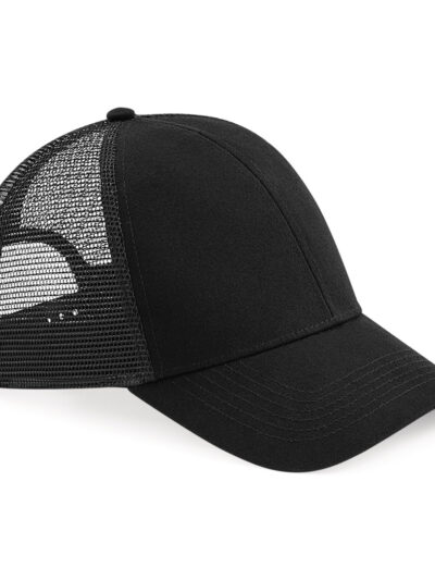 Beechfield Organic Cotton Trucker Black