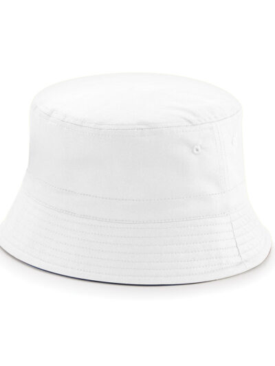 Beechfield Reversible Bucket Hat French Navy and White