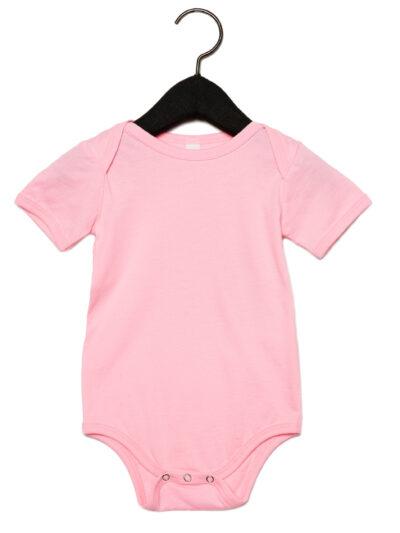 Bella Baby Jersey Short Sleeve Onesie Pink