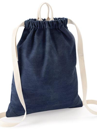 Bagbase Denim Gymsac Denim Blue