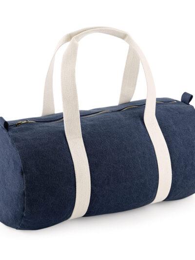 Bagbase Denim Barrel Bag Denim Blue