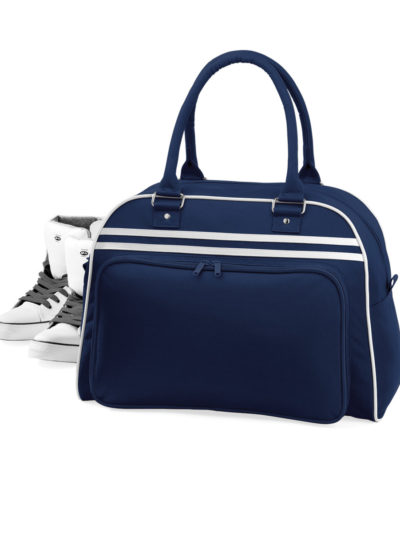 Bagbase Retro Bowling Bag French Navy and White