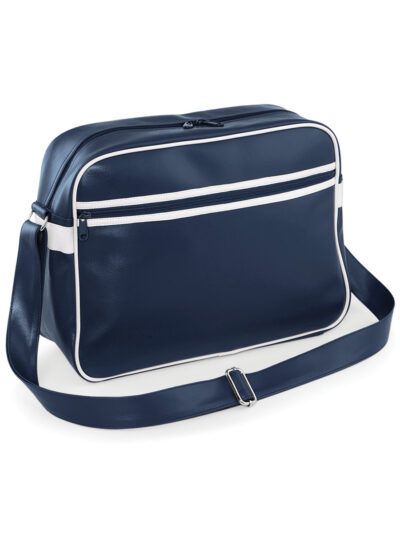 Bagbase Original Retro Messenger French Navy and White