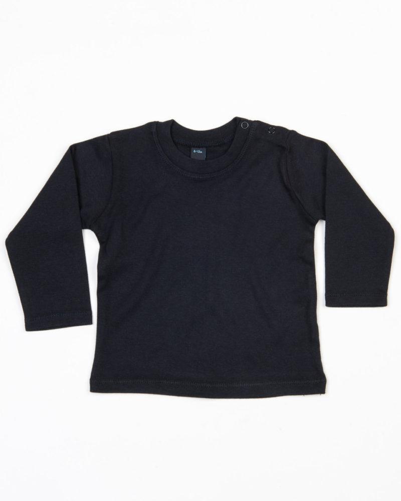 Babybugz Baby Long Sleeve T-Shirt Black