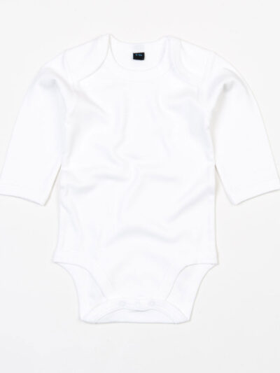 Babybugz Baby Organic Long Sleeve Bodysuit White