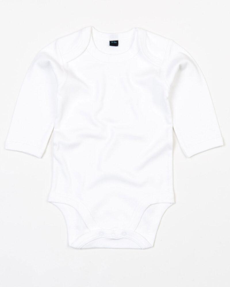 Babybugz Baby Organic Long Sleeve Bodysuit White